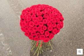 Didelė rožių puokštė